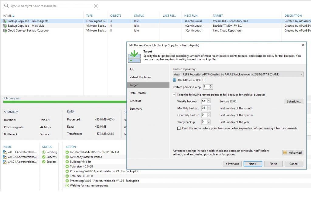 veeam backup copy config