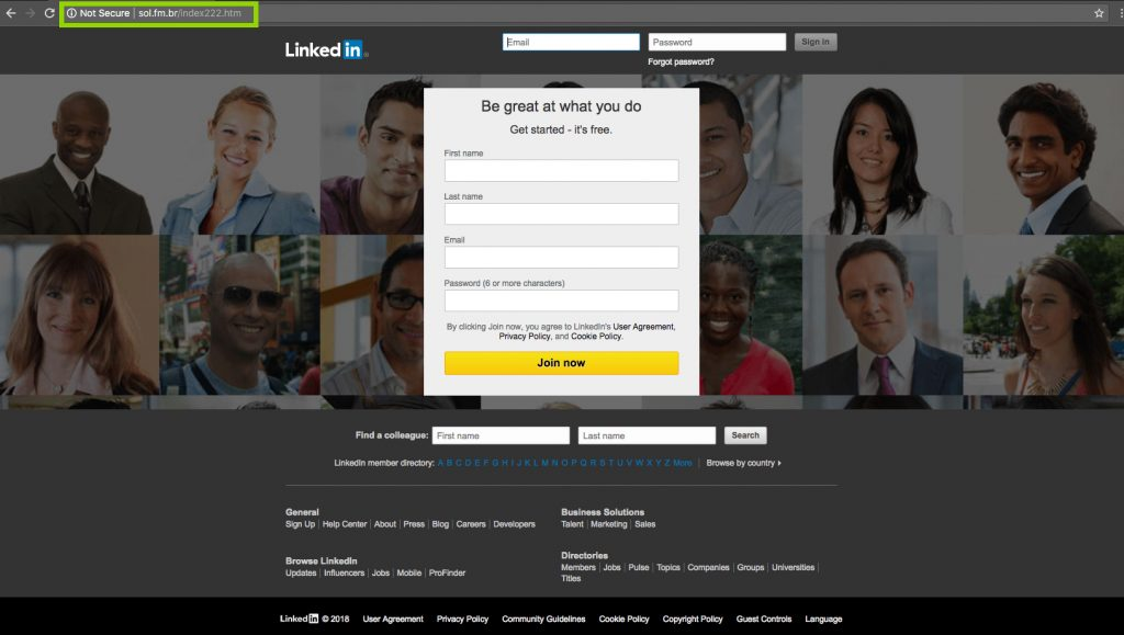 LinkedIn Fishing Example