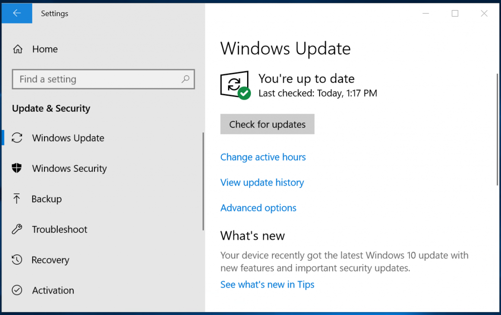 windows 10 update settings 2